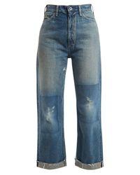 Chimala - Blue Straight Leg Cropped Jeans - Lyst