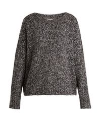 Vince - Gray Chunky Wool And Cashmere-blend Knit Sweater - Lyst