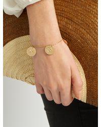 Aurelie Bidermann - Metallic Three Medals Yellow-gold Bracelet - Lyst