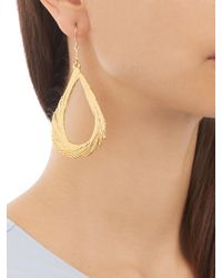 Aurelie Bidermann - Swan Feather Yellow-gold Earrings - Lyst