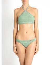 She Made Me - Green Malikah Mini Hipster Crochet Bikini Briefs - Lyst