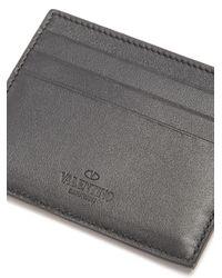 Valentino - Multicolor Micro Rockstud Leather Cardholder for Men - Lyst