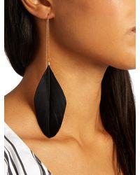 Marte Frisnes - Black Alex Feather Earrings - Lyst
