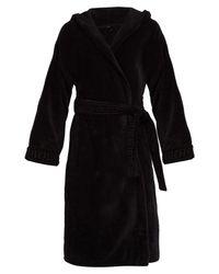 Versace - Black Medusa Cotton Hooded Robe for Men - Lyst