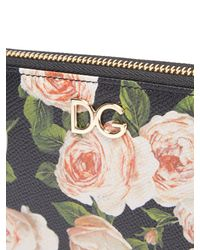 Dolce & Gabbana - Multicolor Rose Print Continental Dauphine Leather Wallet - Lyst
