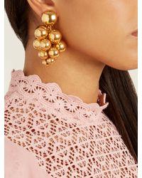 Oscar de la Renta - Metallic Sphere-embellished Cluster Clip-on Earrings - Lyst