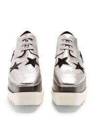 Stella McCartney - Multicolor Elyse Lace-up Platform Shoes - Lyst