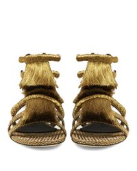 Sanayi 313 - Metallic Pollensa Fringed Sandals - Lyst