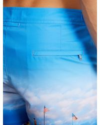 Orlebar Brown - Blue Bulldog Photographic-print Swim Shorts for Men - Lyst