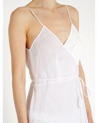 Loup Charmant - White Ballet Cotton Wrap Dress - Lyst