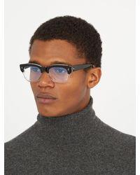 Cutler & Gross - Black 0772 Rectangle-frame Acetate Glasses for Men - Lyst