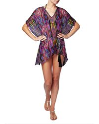 Matthew Williamson | Multicolor Sweetie Ragadang Printed Silk-chiffon Coverup | Lyst