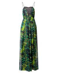 Matthew Williamson   Green Tiger Palm Lace & Silk Jumpsuit   Lyst