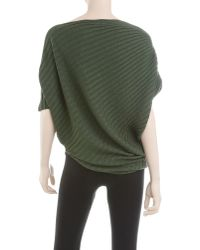 Leon Max - Green Twisted Ribbed Sweater - Lyst