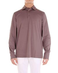 Cruciani - Brown Cotton Polo Shirt for Men - Lyst
