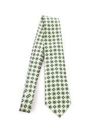 Kiton Green Silk Tie for men