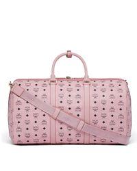 MCM | Pink Traveler Weekender In Visetos | Lyst