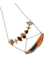 Melissa Joy Manning | Metallic Agate, Druzy, And Sapphire Statement Necklace | Lyst