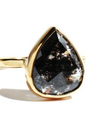 Melissa Joy Manning | Multicolor Rosecut Clear And Black Diamond Slice Ring | Lyst