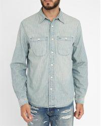 Denim & Supply Ralph Lauren | Blue Chambray Shirt With Striped Pocket for Men | Lyst