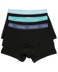Calvin Klein | 3-pack Black Coloured Waistband Boxer Shorts for Men | Lyst