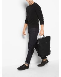 Michael Kors - Black Dean Leather Backpack for Men - Lyst