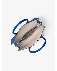 Michael Kors - Blue Mercer Large Leather Tote - Lyst