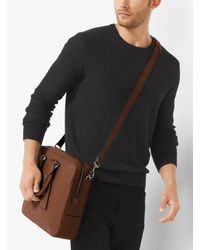 Michael Kors - Brown Bryant Large Leather Briefcase for Men - Lyst