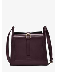 Michael Kors - Purple Brackley Medium Leather Pocket Crossbody - Lyst
