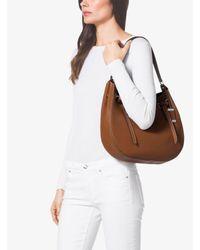 Michael Kors Gray Rogers Large Leather Shoulder Bag