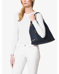 Michael Kors - Black Skorpios Large Leather Shoulder Bag - Lyst