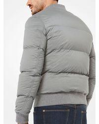 Michael Kors - Gray Quilted-nylon Bomber Jacket for Men - Lyst