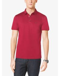 Michael Kors - Red Cotton Polo Shirt for Men - Lyst