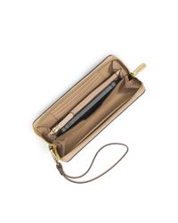 Michael Kors - Brown Jet Set Travel Large Smartphone Wristlet - Lyst