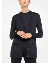 Michael Kors - Multicolor Featherweight Cashmere Cardigan - Lyst