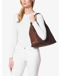 Michael Kors - Brown Skorpios Large Leather Shoulder Bag - Lyst