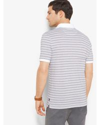 Michael Kors - White Striped Jacquard Polo Shirt for Men - Lyst