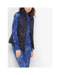 Michael Kors | Blue Quilted Nylon Vest | Lyst