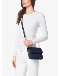 Michael Kors - Blue Bedford Leather Cross-Body Bag - Lyst