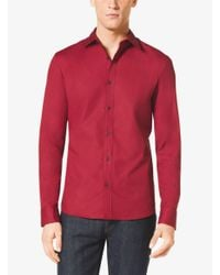 Michael Kors | Tailored-fit Stretch-cotton Shirt for Men | Lyst