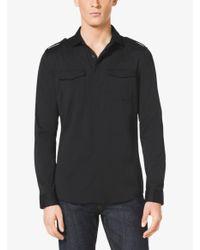 Michael Kors - Black Slim-fit Two-pocket Shirt for Men - Lyst