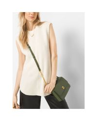Michael Kors | Natural Ribbed Merino Wool-blend Crewneck Top | Lyst