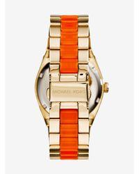 Michael Kors - Metallic Channing Gold-tone Acetate Watch - Lyst