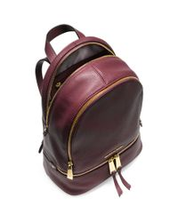 Michael Kors - Purple Rhea Small Leather Backpack - Lyst