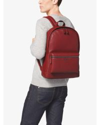 Michael Kors | Red Bryant Leather Backpack for Men | Lyst