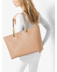 Michael Kors - Natural Jet Set Travel Medium Saffiano Leather Tote - Lyst