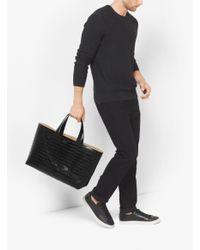 Michael Kors   Black Mason Reversible Embossed-leather Tote for Men   Lyst