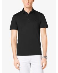 Michael Kors - Black Cotton Polo Shirt for Men - Lyst