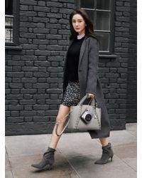 Michael Kors | Black Double-face Wool-blend Coat | Lyst