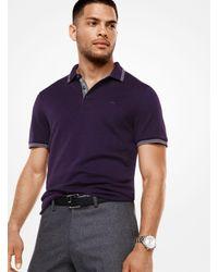Michael Kors - Purple Greenwich Cotton Polo Shirt for Men - Lyst